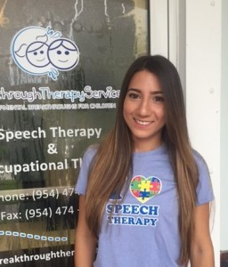 Ashley Marin, long brown hair, sweet face, Speech Language Pathologist (Clinical Fellowship)